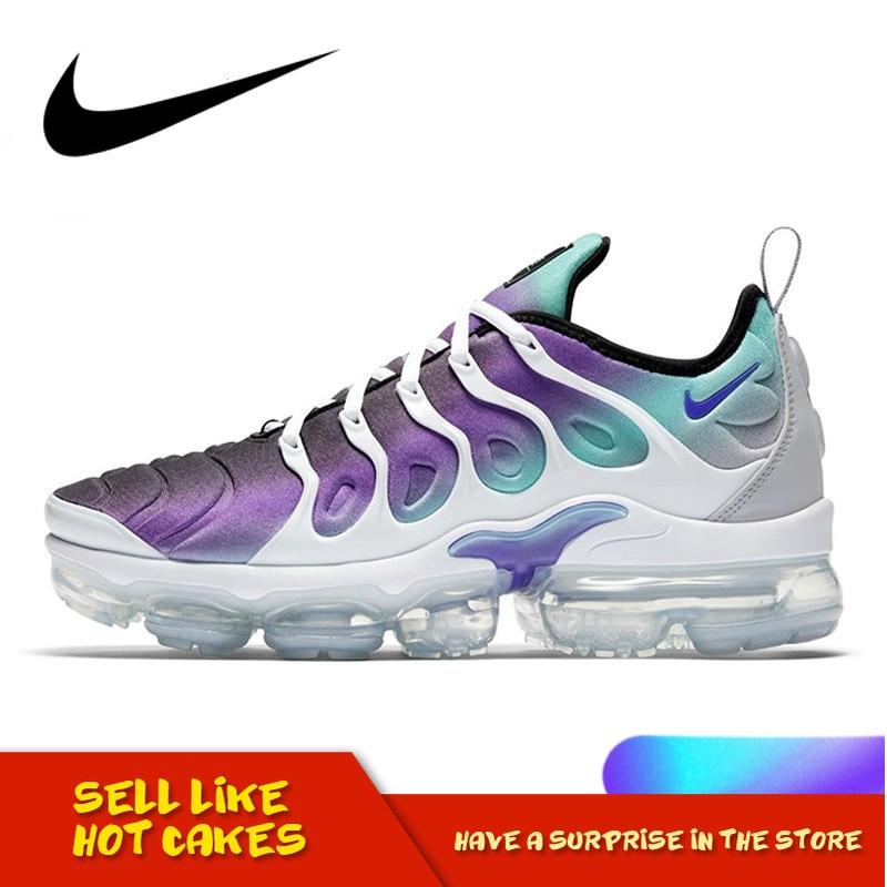 Original Authentic Nike Air Vapormax Plus Grape TM Women's Running Shoes Non-slip Classic Athletic Designer Footwear 924453-101