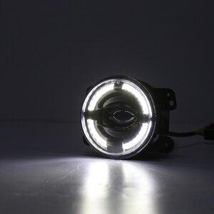 "Image 4 - 2X4 ""Zoll Runde LED Nebel Stoßstange Lichter Off Road Nebel Lampen für Jeep Wrangler JK Dodge Journey Magnum Ladegerät"