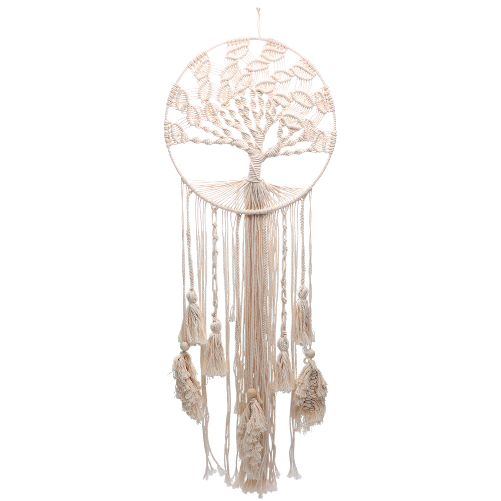Wedding Decoration Boho Tree Of Life Dreamcatcher Cotton Tassels Yarn Macrame Craft Handmade Wall Hanging Home Bedroom Decor in Wind Chimes Hanging Decorations from Home Garden
