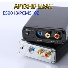 PCM5102A ES9018 Dac Decoderen CSR8675 Bluetooth 5.0 Draadloze Ontvanger Aptx Hd/Ldac 3.5Mm Rca Uitgang 24bit Met Antenne