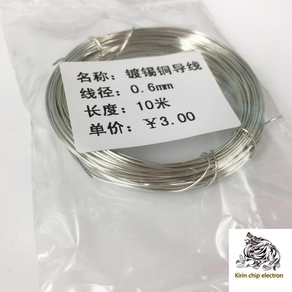 1pcs / Lot Tinned Copper Wire Jumper PCB Circuit Board Jumper Bare Copper Wire Lead Wire 0.6mm 10 Meters