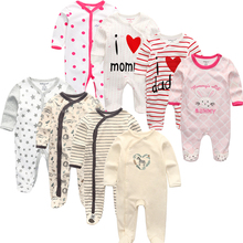 Baby Kleding 2020 Unisex Kids Lange Mouw 3/4 Stuks Rompertjes Pasgeboren Kleding Dier Jumpsuit Herfst Jongen Pyjama