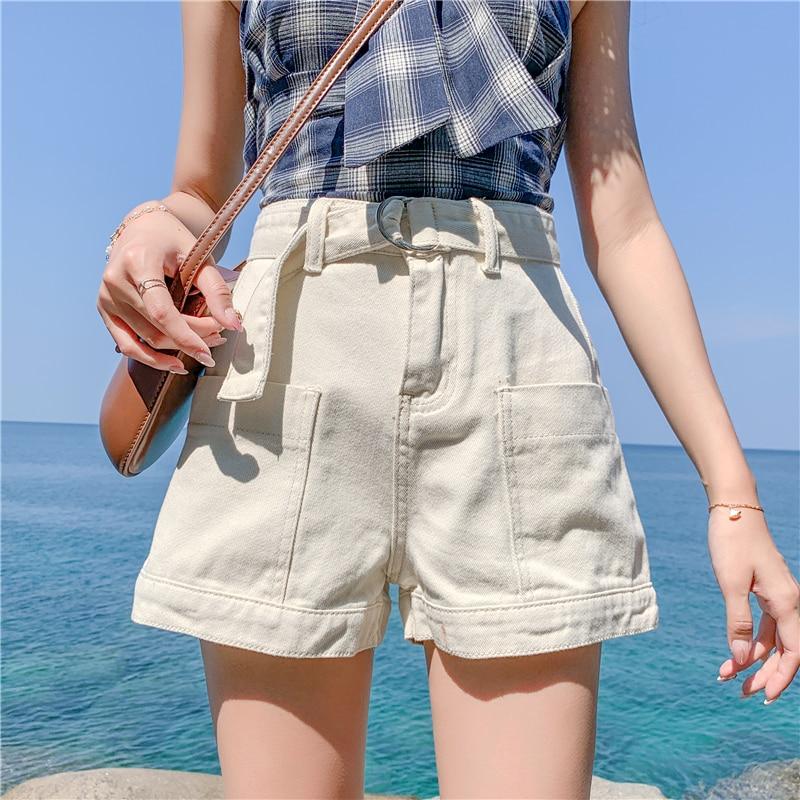 Vintage Denim Shorts Women Wide Leg Khaki Aesthetic Jean Shorts For Women Ladies Casual Plus Size 4XL Women Clothing Summer 2020
