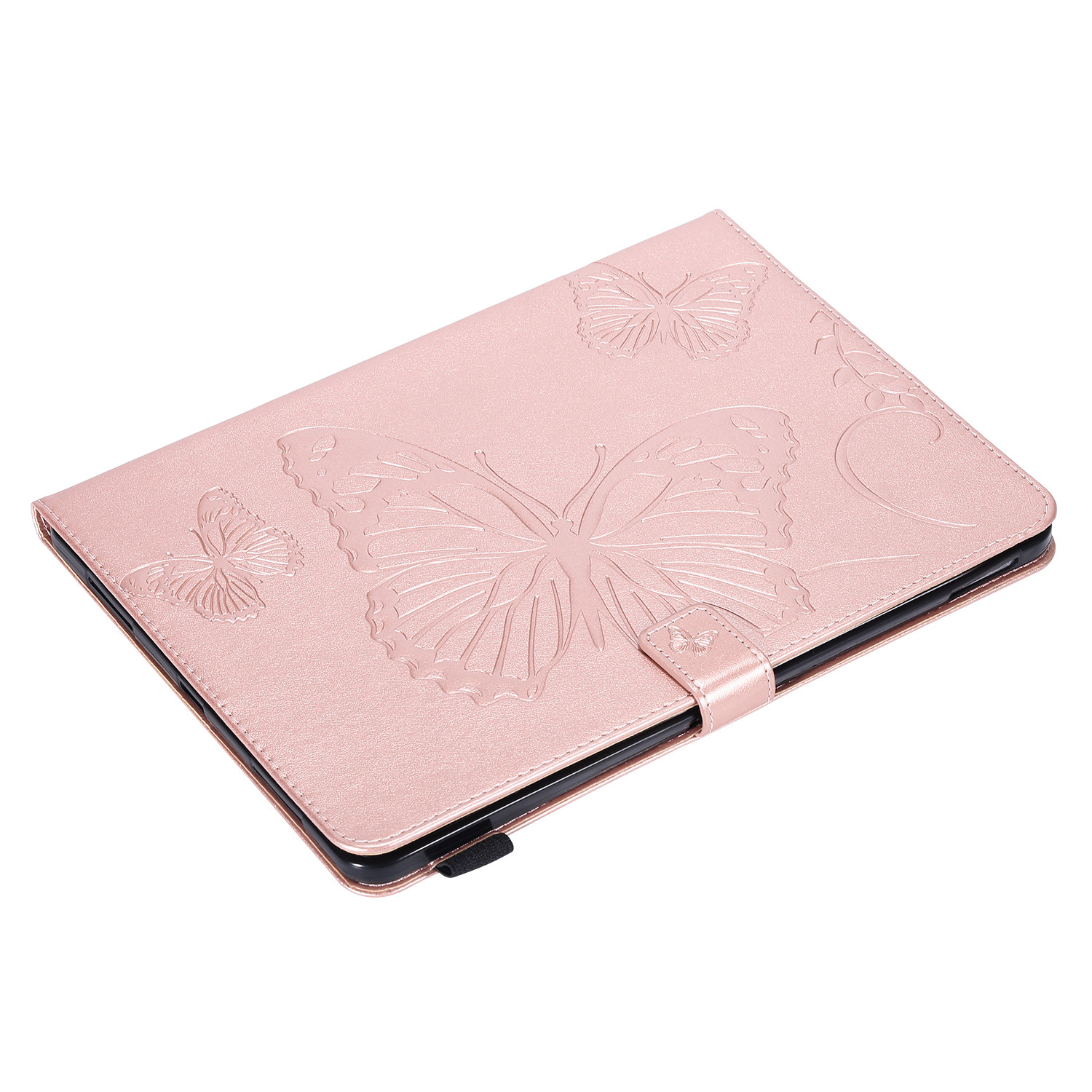 3 Green Butterfly Tablet Fundas For iPad Pro 12 9 Case 2020 2018 Folding Folio Embossed Cover For
