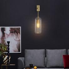 Nordic Wall Lamp Golden Glass Decor Bedroom Bedside Sconce For Living Room Stairs Modern Interior Designer Home Loft Night Light