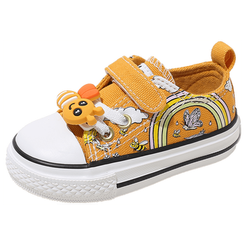 Babaya Children Canvas Shoes Boys Baby Shoes Soft Sole 1-3 Years Old Girls Cloth Shoes Toddler Shoes Cartoon Kids Sneakers babaya children shoes 2020 autumn new cute cartoon toddler canvas shoes kids comfortable boys baby girls baby casual shoes
