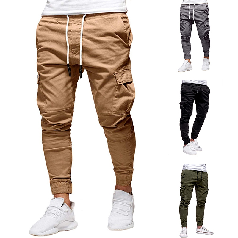 Men New Running Pants Sport Joggers Hip Hop Harem Trousers Black Fitness Gym Clothing With Pockets Male Leisure Pants