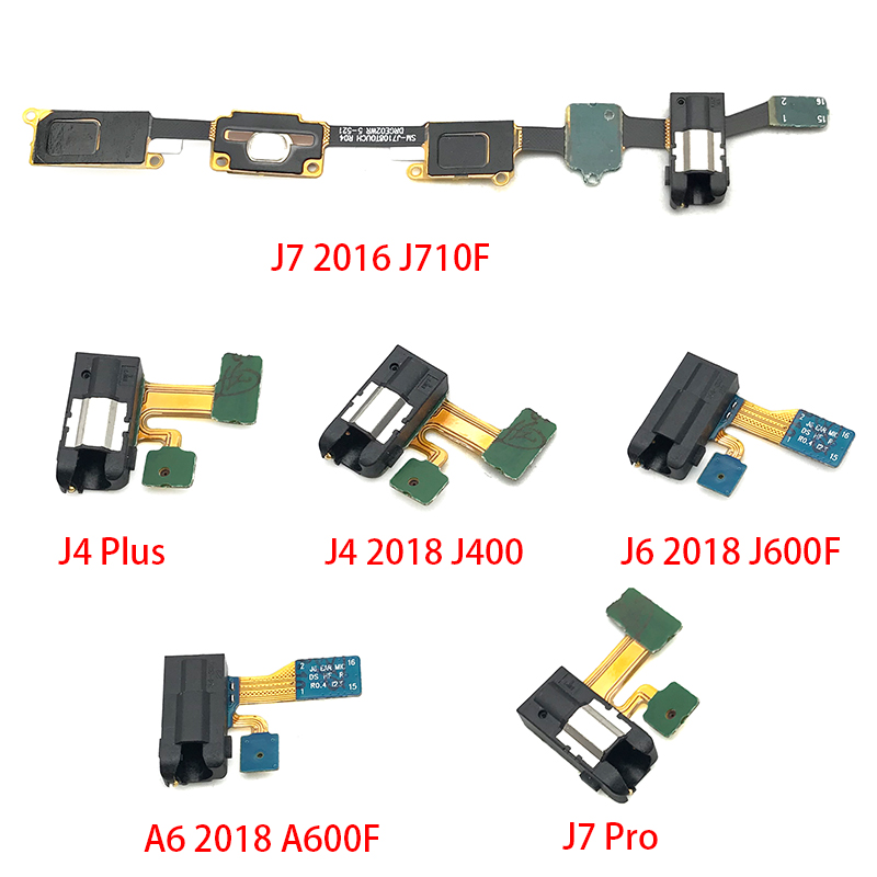 For Samsung Galaxy A3 A5 A7 J3 J5 J7 2017 A320 A520 A720 J7 Prime J4 2018 Earphone Headphone Audio Jack Flex Cable Ribbon