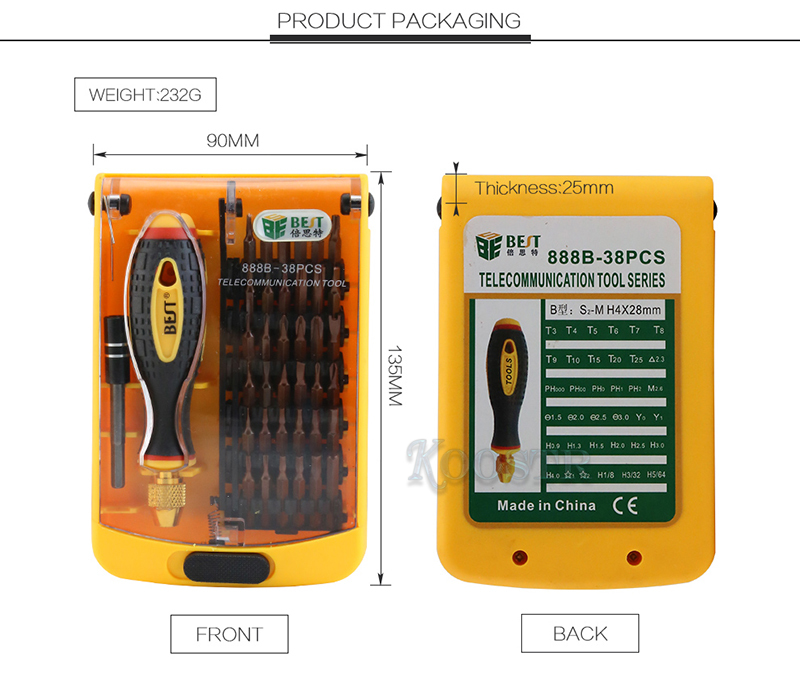 Precision Screwdriver Set 38 In 1 BST-888B For Computer Phone Disassemble Opening Repair Tools Kit Multifunctional Screwdrivers