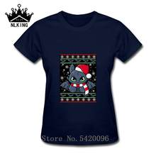 Toothless Dragon night fury ugly christmas sweater Shirt T-shirt Stitch And Toothless Stay Different Stay Weird Female style Tee(China)