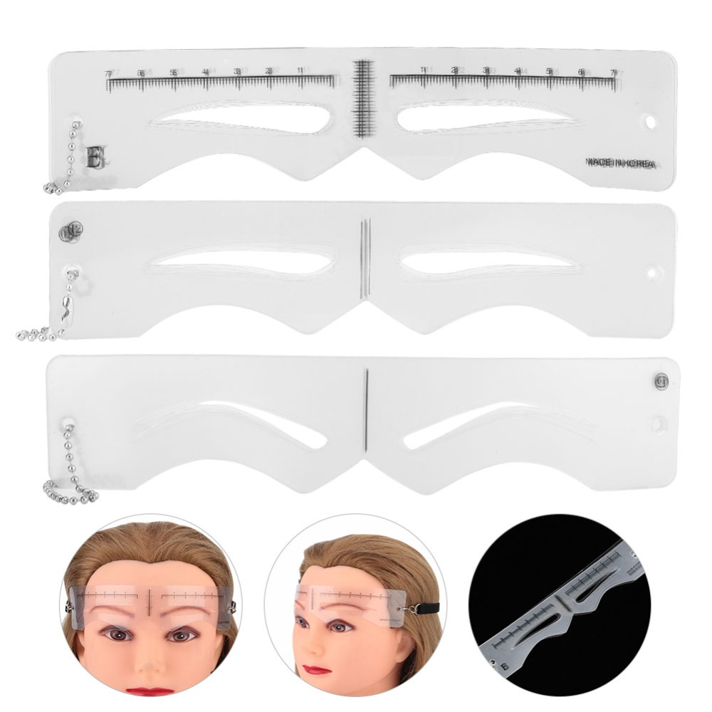 12pcs/set Eyebrow Template Plastic Eyebrow Tattoo Cards Grooming Stencil Elastic Belt Tattoo Eyebrow Template Kits Accessories