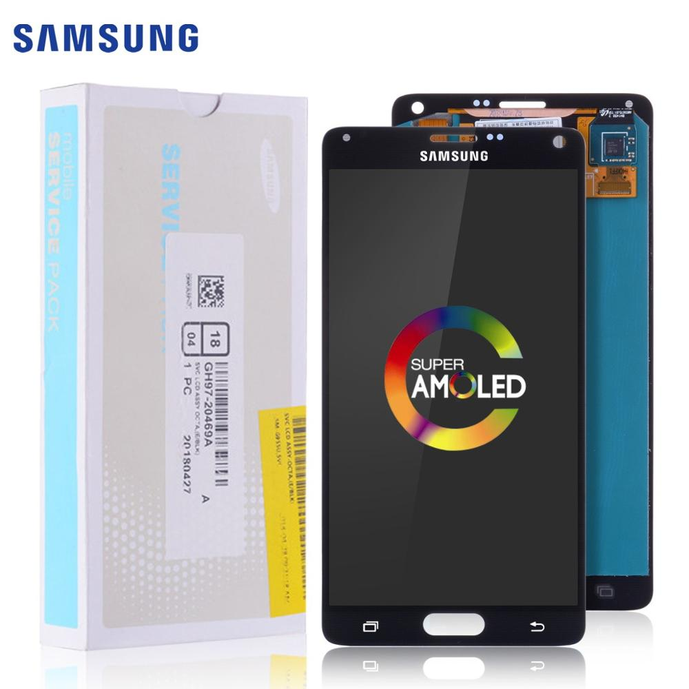 AMOLED Original Display Für SAMSUNG <font><b>Galaxy</b></font> Note 4 <font><b>LCD</b></font> Touch <font><b>Screen</b></font> für SAMSUNG Note 4 <font><b>LCD</b></font> <font><b>Note4</b></font> N910 N910A N910F n9100 Display image