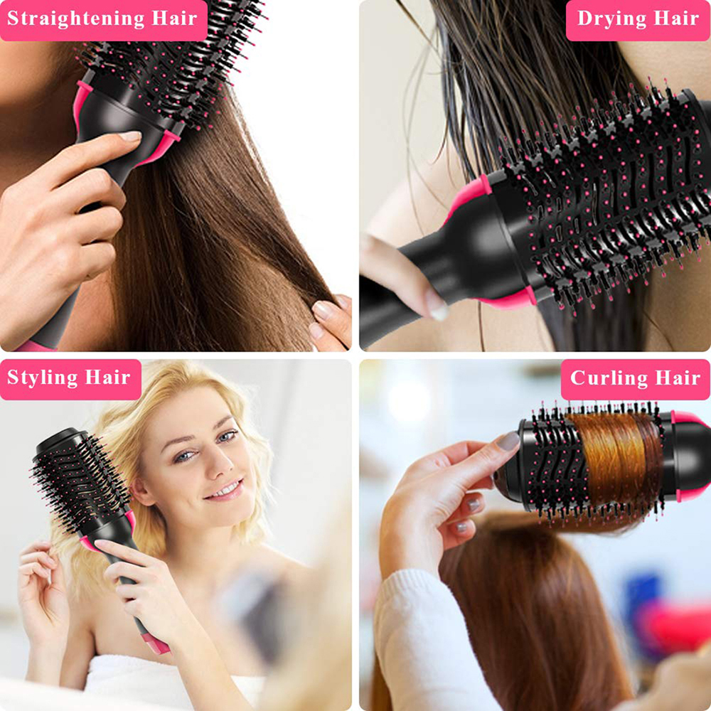 de cabelo escova rotativa ar quente pente