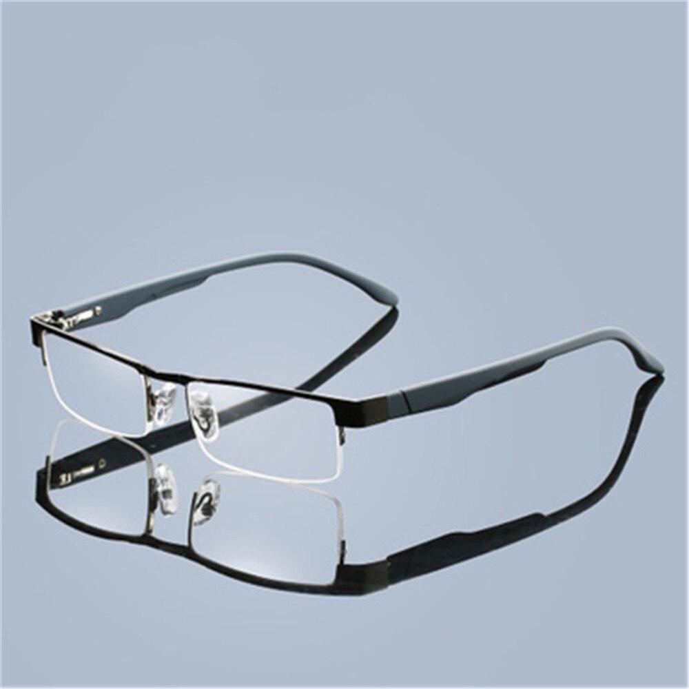 Очки для чтения с асферическими линзами, титановые Полуободковые, с 12-слойным покрытием, для дальнозоркости, по рецепту