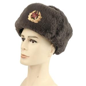 Image 3 - 2019 Haber Sonbahar Kış USSR Bombacı Şapkalar CCCP Erkekler Kadınlar Peluş Şapka Sıcak Tutmak Sovyet kap