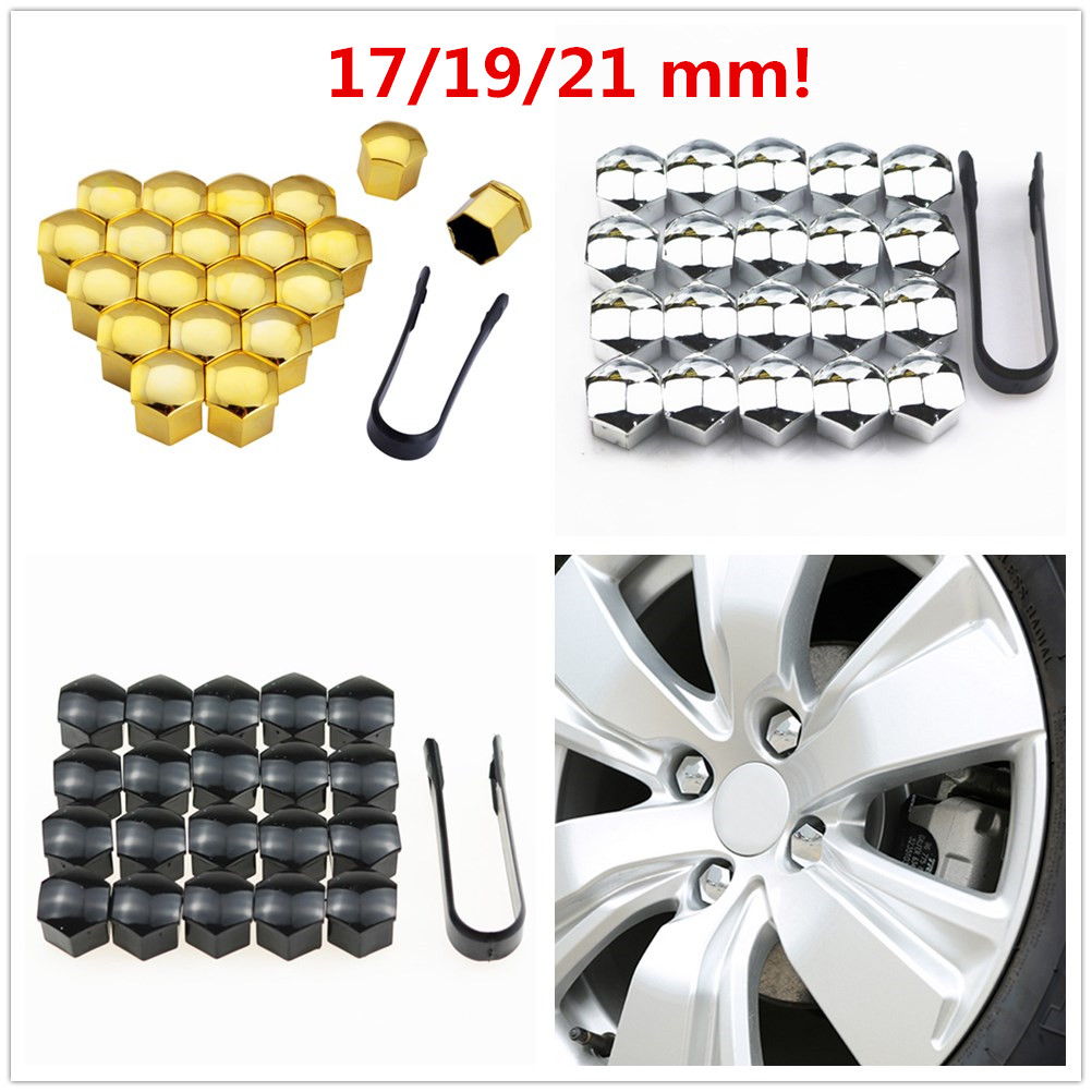 20Pcs <font><b>Car</b></font> <font><b>Wheel</b></font> <font><b>Nut</b></font> <font><b>Caps</b></font> Auto Hub Screw Cover 17/19/21 mm Bolt Rims Exterior Decoration Special Socket Protection Dust Proof image