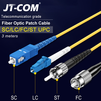 3M Fiber Optic Patch Cable SC/FC/ST/LC UPC Fiber Connector Single Mode Single Core Optical Fiber Patch Cord fc to st multimode fiber patch cord fc st fiber patch cable upc polish mm optical fiber jumper duplex om2 ofnp 3m 5m 10m 15m