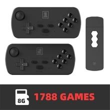 Usb Draadloze Handheld Tv Video Game Console Ingebouwde 1700/3500 + Classic Games 4K Retro Game Console Ondersteuning Voor gba/Mame X6HB