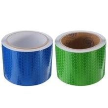 2 предмета 5 см х 3 м лента Предупреждение лента отражатель лента безопасности, синий и зеленый