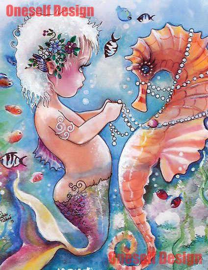 ยอดนิยม 5d เพชรโมเสคขายอะนิเมะ Seahorse เพชรจิตรกรรมรอบ/สแควร์ Seahorse ปักลูกปัด rhinestone ภาพ