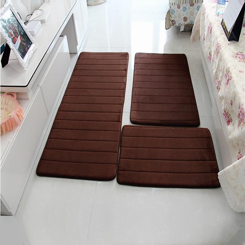 Water Absorption Bath Mat Set Anti-slip Bathroom Mat Next To Washing Machine Living Room Bedroom Toilet Floor Carpet 1pc/3pcs