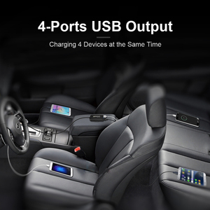 Image 2 - QGEEM 4 USB QC 3.0 Car Charger Quick Charge 3.0 Phone Car Fast Front Back Charger Adapter Car Portable Charger Plug for iPhone