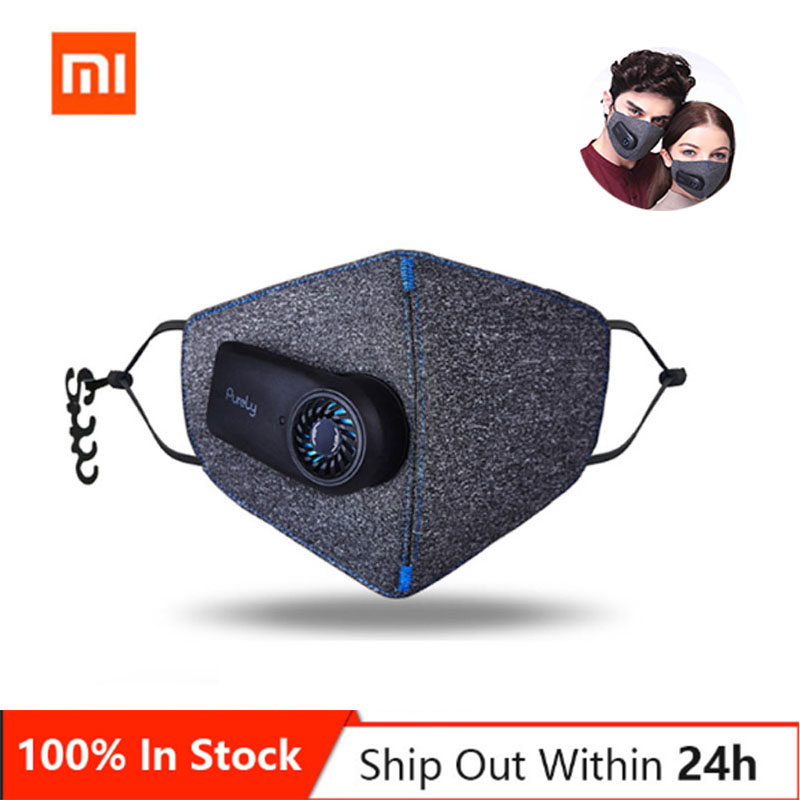 New Xiaomi Mi Pear Purely  Classic Style Electric Haze Fresh Air Mask Virus With Filter Outdoor Free Breathable