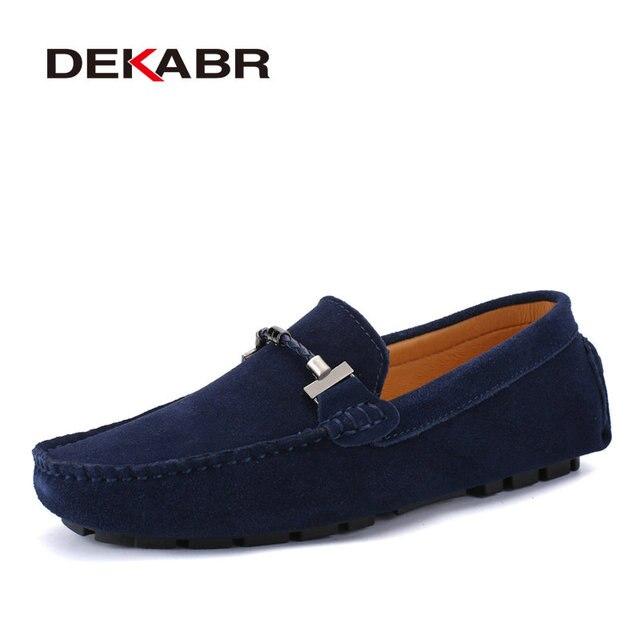 DEKABR Hợp Thời Trang Nam Giày Size Lớn 38 47 Thương Hiệu Mùa Hè Lái Xe Cho Nữ Thoáng Khí Bán Buôn Người Mềm Giày dành cho Nam