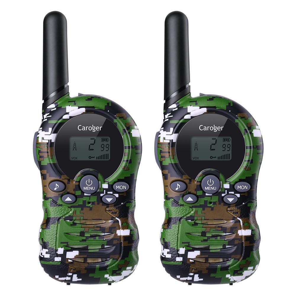 Caroger 2PCS Walkie Talkies 22/8 Channel 462/467/446 MHZ Two Way Radio 3300 Meters/2 Miles Range Handheld Interphone Camouflage