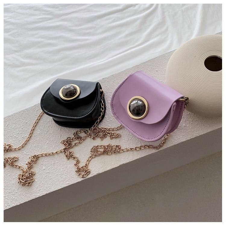 Mini Fashion Pu Soild Color Saddle Bags For Women Small Bag Leather Handbags And Lady Shoulder Bags Cross Body Bag (2)