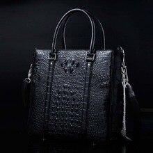 ourui новый продажа подлинной крокодила кожаная мужская сумка бизнес мужчины портфель мужчины сумка