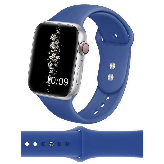 DIMU Soft Silicone Sports Watchband For Apple Watch Series 5/4/3/2/1 38mm 42mm Rubber Strap For iwatch Bands Series 4 40mm 44mm | Watchbands