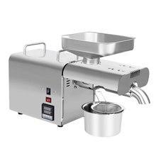 Автоматическая машина для холодного отжима масла 110 В/220 В, машина для холодного отжима масла, экстрактор семян подсолнечника, контроль температуры