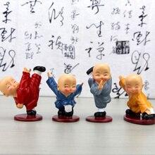 4pcs Car Interior Decoration Lovely Kung Fu Little Monk desi