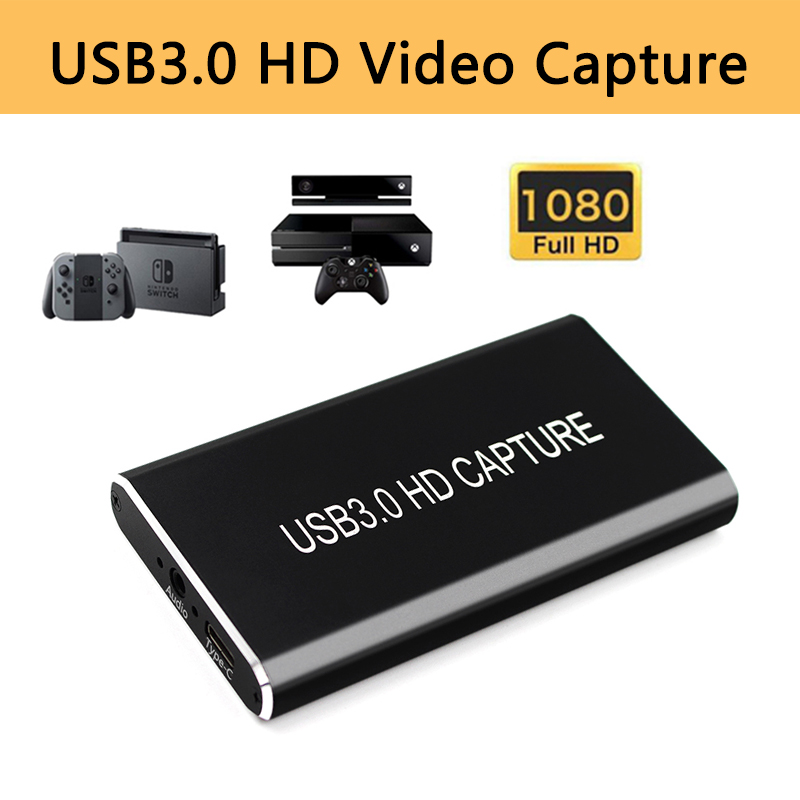 USB Video Capture Card Grabber HD To Type-C/USB C/USB 3.0 1080P 60fps Game Adapter With HDMI Loop Output For Windows Linux Os X