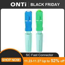 ONTi New SC APC SM Single-Mode Optical Connector FTTH Tool Cold Connector Tool SC UPC Fiber Optic Fast Connector