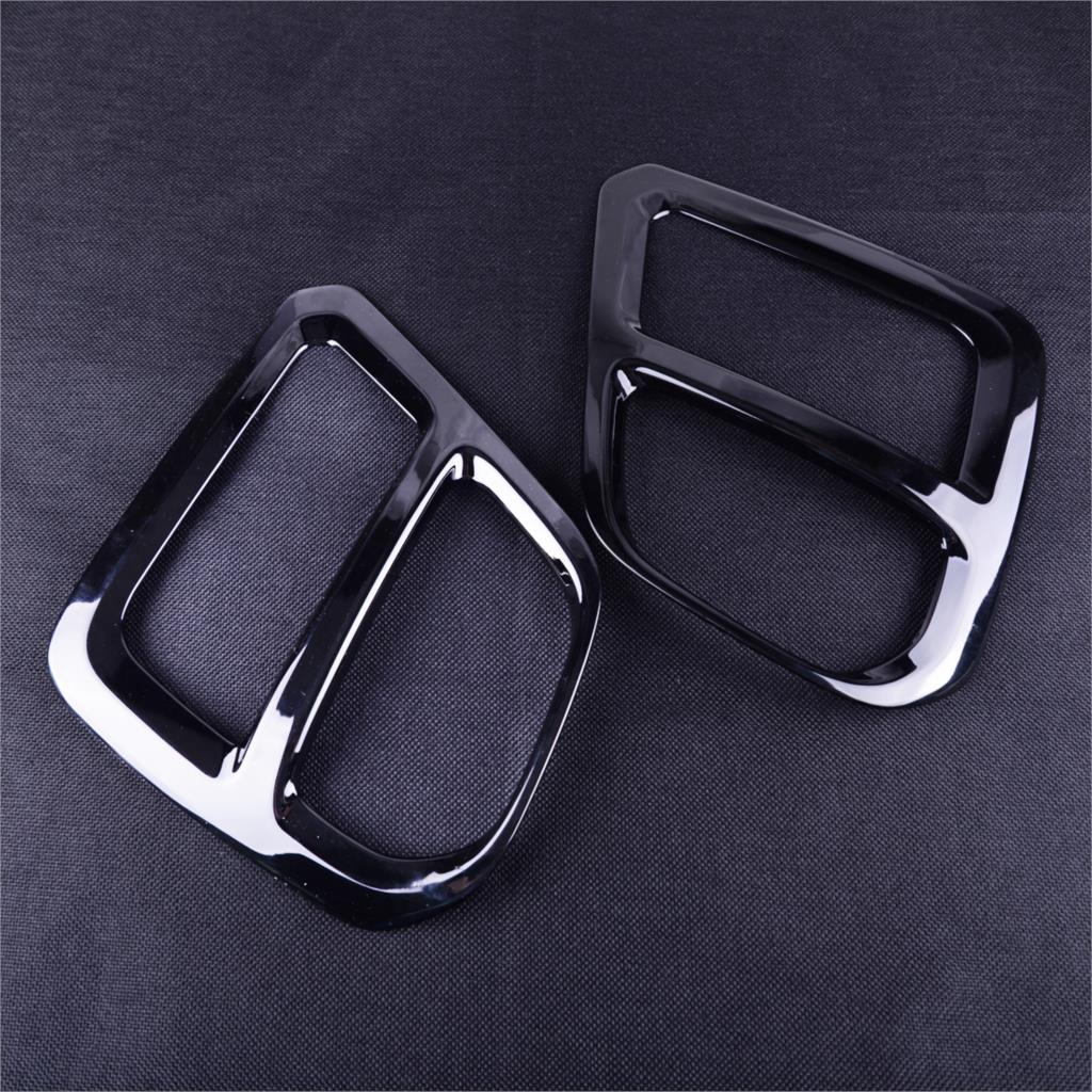 DWCX 2pcs Car Styling Garnish Sticker Front Fog Light Lamp Cover Trim Black ABS Fit for Subaru Forester SK 2019(China)