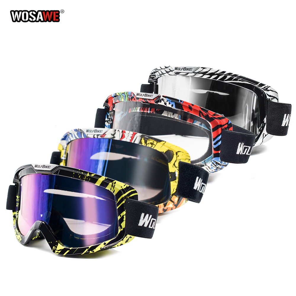 WOSAWE Motocross Glasses Downhill Goggles Cross Country Motorcycle Goggle Dirt Bike Glasses Dustproof Motocross Glasses image