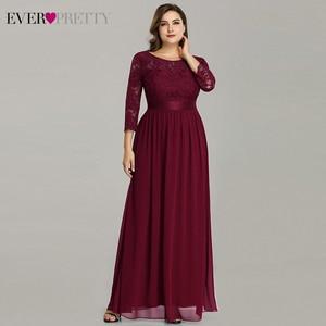 Image 3 - Plus Size Abendkleider Lange 2020 Elegante Spitze Langarm Formale Party Abendkleid für Hochzeit Robe Longue Manche Longue
