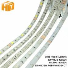 DC12V Светодиодные ленты 2835 5050 Светодиодные ленты светильник Водонепроницаемый RGBW/RGBWW цветная (RGB) светодиодная Диодная лента 54 светодиодов/m 30...