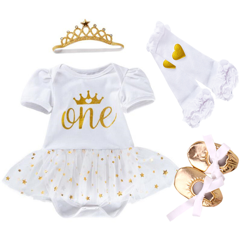 Vestidos de Macacão de Bebê Minnie Mickey Bodysuit Vestido Do Laço da Menina Do Bebê 4 pcs define 2017 New Born Bebe Roupas de Outono Roupas infantis