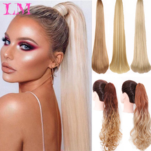 Ponytail Long Wavy Synthetic Claw-Clip Thick Straght Wave for Women LM