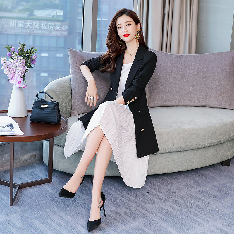 Set Trend Simple Cool Slimming 2019 Spring Slim Fit Versatile Elegant Casual Long Sleeve