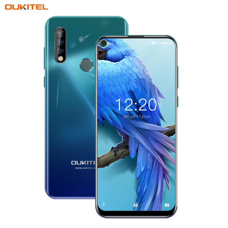 OUKITEL C17 6.35'' Triple Camera Smartphone MT6763 Octa Core Android 9.0 3GB 16GB Face ID Fingerprint 4G Mobile Phone 3900mAh