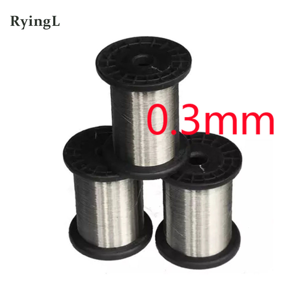 0.3mm SS304 Stainless Steel Wire Spools Hard Condition Bright Smooth Surface 100meters