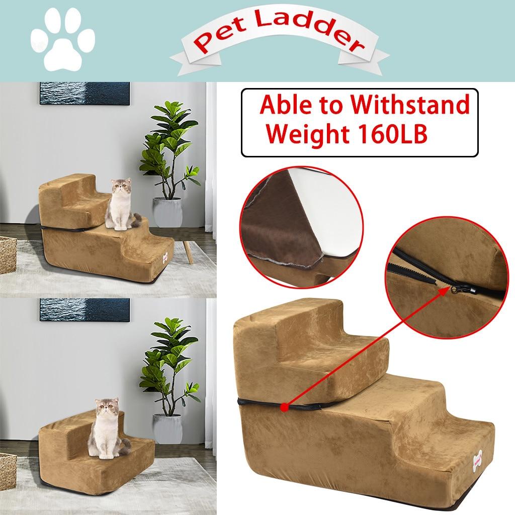 High-density Sponge Pet Stair Washable Microfiber Cover Non-slip Bottom 4 Steps Dog Ramp Escalera Perro Escalier Pour Chien