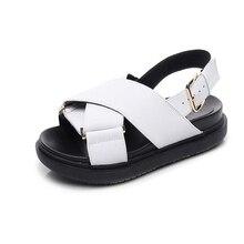 thick platform sandals cross strap buckle sponge cake shoes