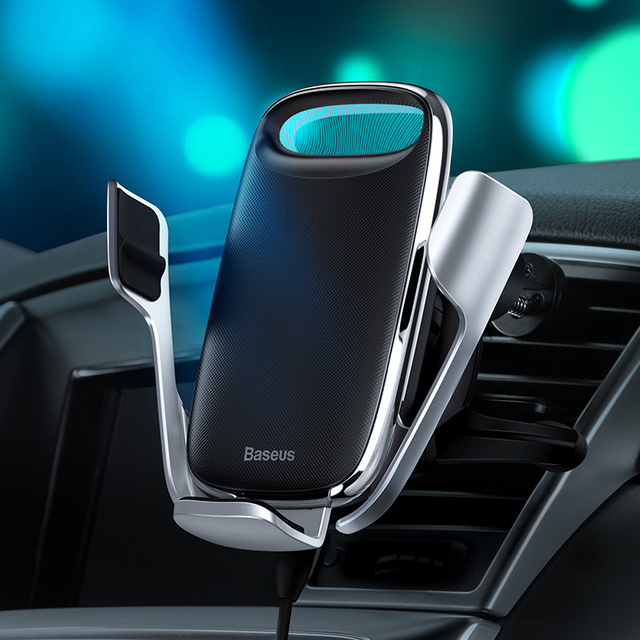 Baseus Car Phone Holder Wireless Charger for iPhone Support Quick Charge 3.0 Air Vent Mount Holder Car Wireless Charging Holder