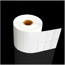 50mm * 25MM * 5000 self-adhesive barcode paper label sticker blank copper plate printing label sticker roll