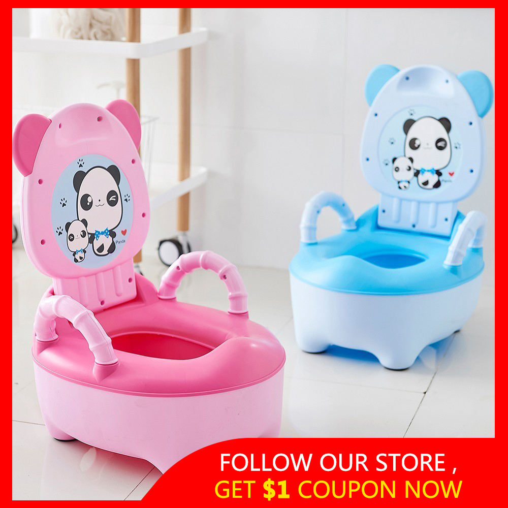 Baby Potty Toilet-Seat Backrest Training Girls Boys Children for Portable Bedpan Cartoon-Pots title=